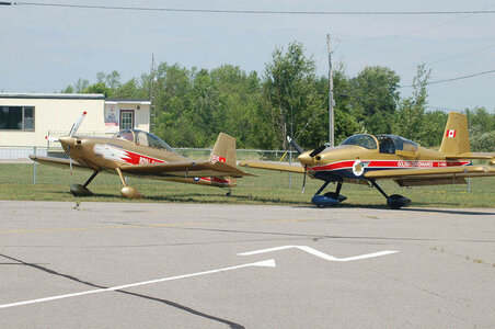 Next to Phil Kaye's RV-9A, in RCAF Golden Centennaires colours