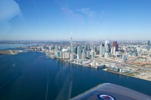 Downtown Toronto, the CN Tower, and the Toronto Island Airport