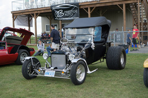 Super-charged Ford Model T street rod